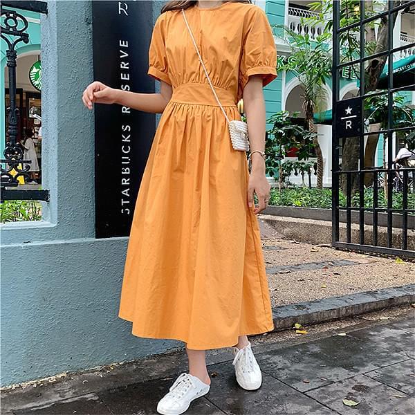 Orange flare dress