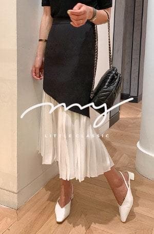 My-littleclassic / Calla-Trumpet Pleated Skirt