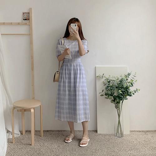 Viola check dress