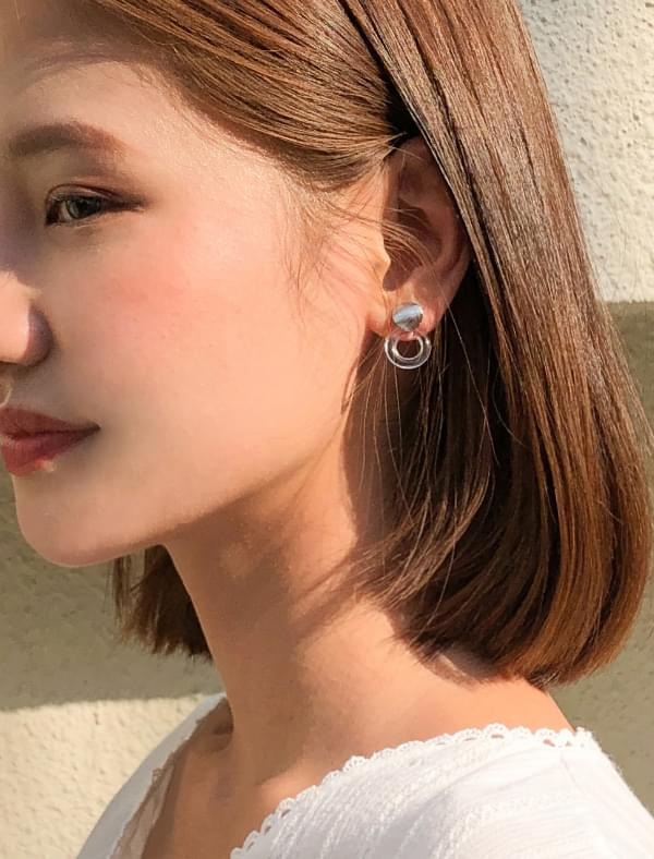 4-type clear earring set