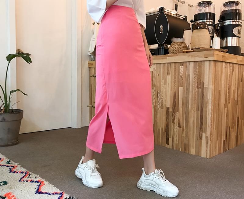Point skirt long skirt