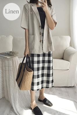 Halfclass linen jacket