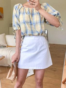 Canoe check blouse