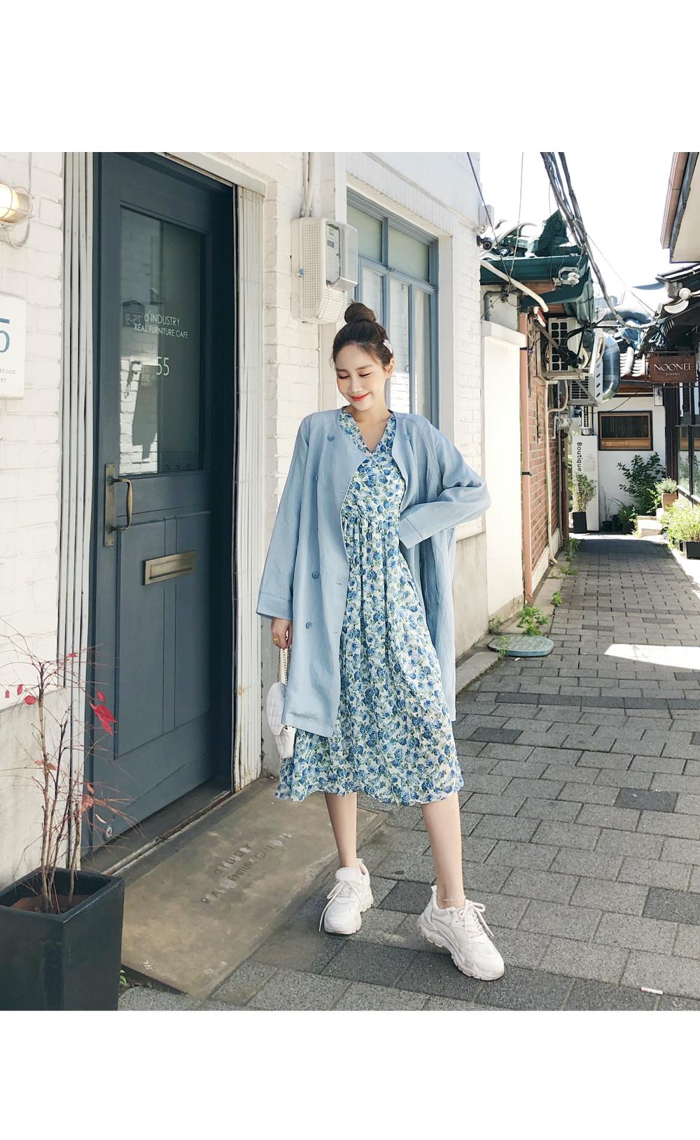 Nokara linen long coat