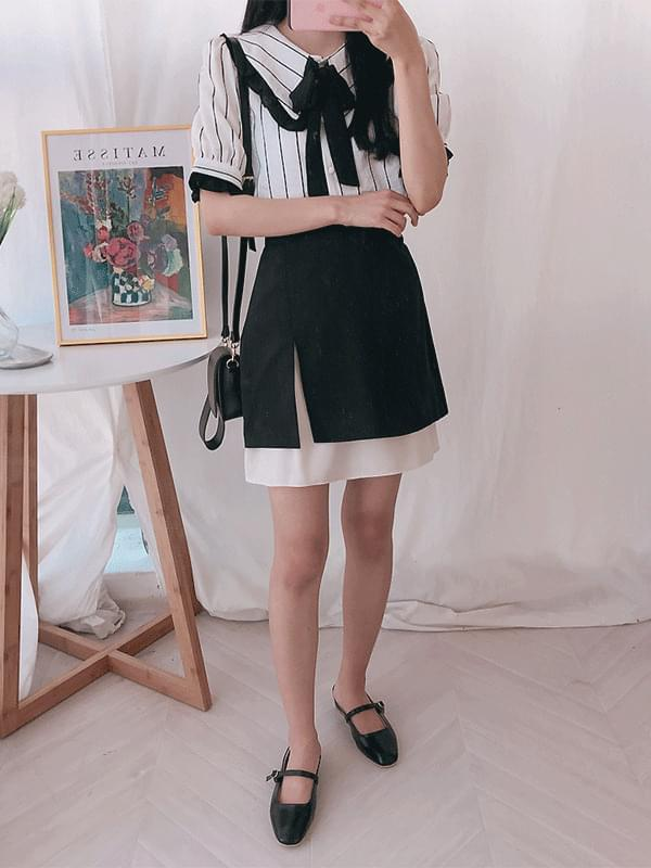 Colored incision banding skirt