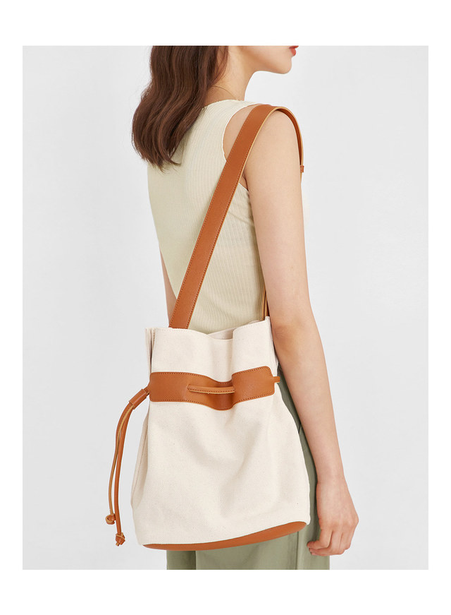 unusual canvas bucket bag