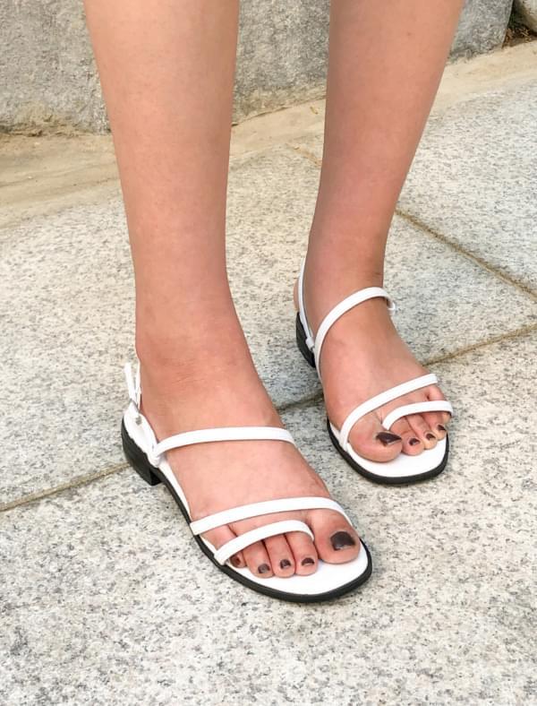unique thin strap sandal