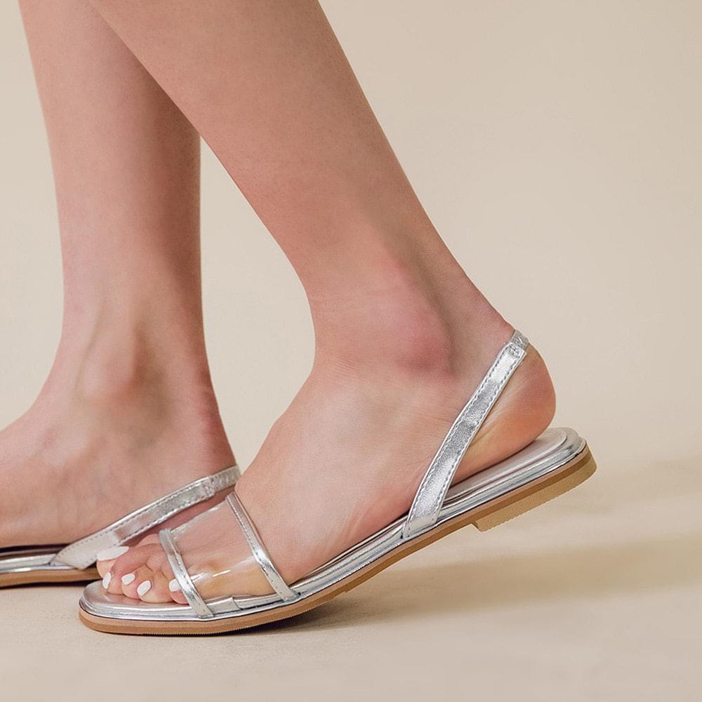 Transparent strap sandals
