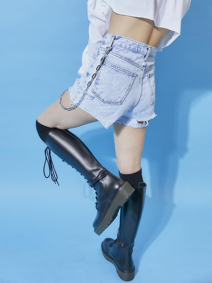 vintage cut highwaist short pants (2 color) - woman