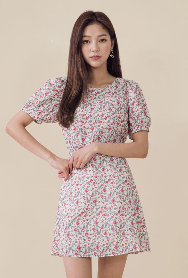 Flower Strap Minimal Dress