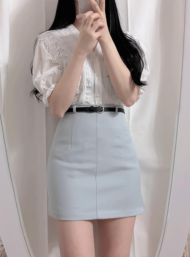♥ Belt set / cellar H line skirt