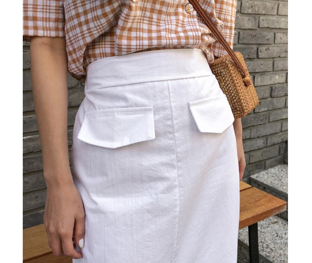 simple h-line banding skirt
