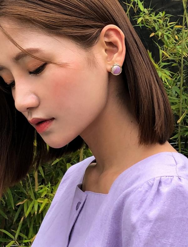 soft marbling earring
