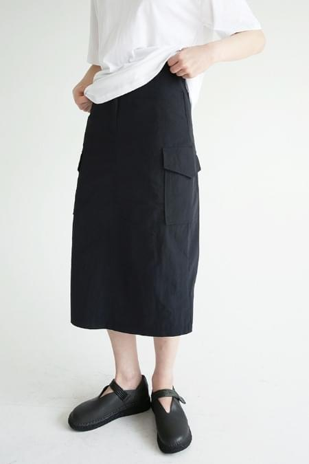 light crispy cargo skirts