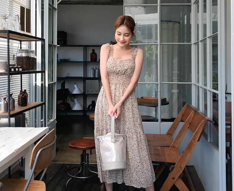 Pastel color flower dress