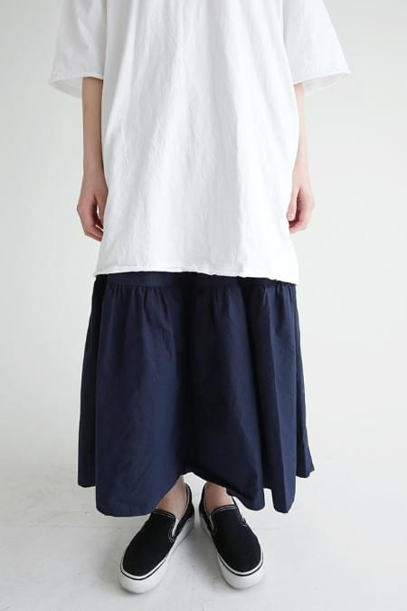 crease detail buckle skirts