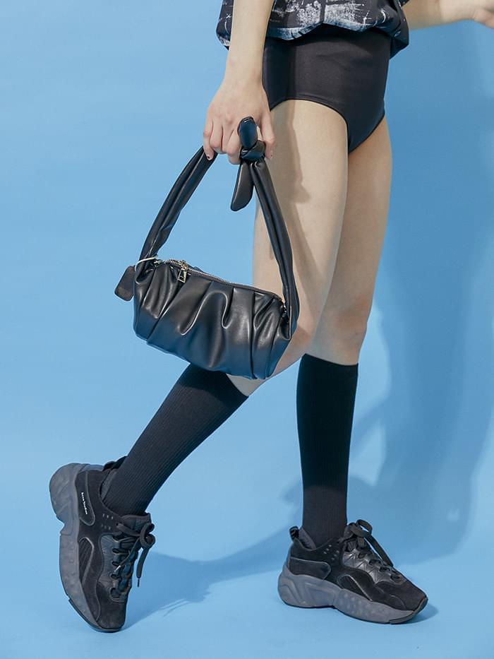wrinkle leather shoulder bag (2 color)
