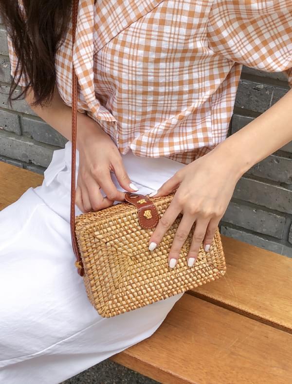 natural wood cross bag