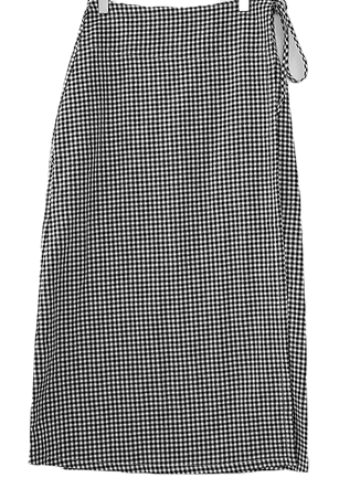 Ripple check lap skirt