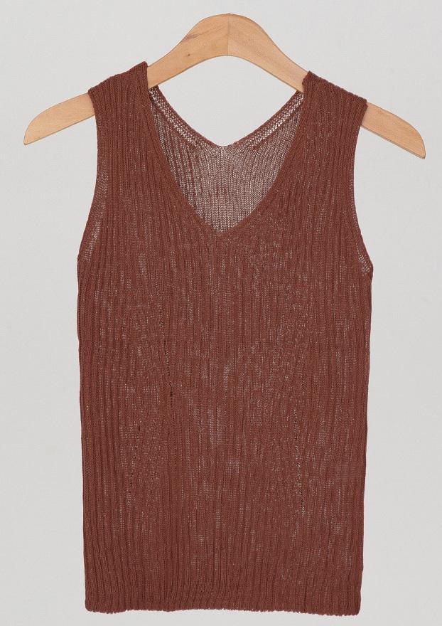 golgi v-neck sleeveless