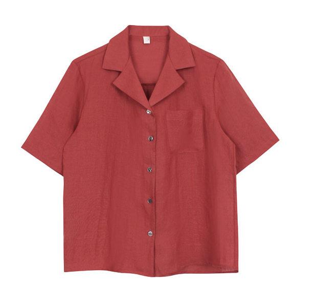 Linen collar shirts