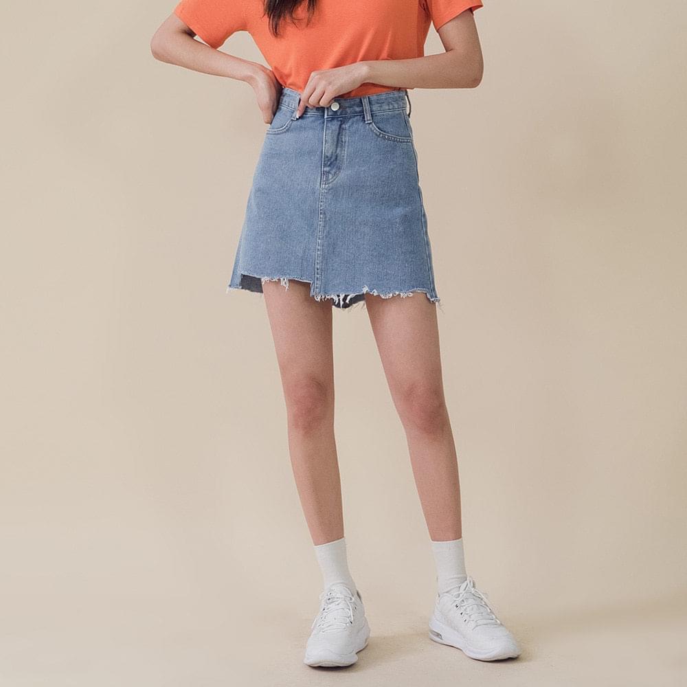 Uncut skirt hem cut skirt
