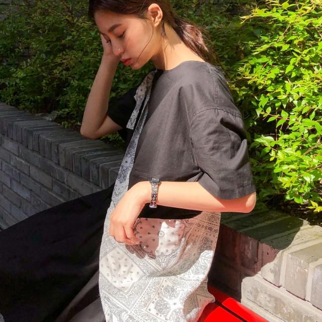 paisley strap eco bag キャンバスバック