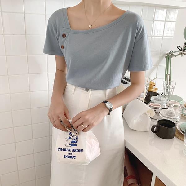 Pastel Button T-shirt