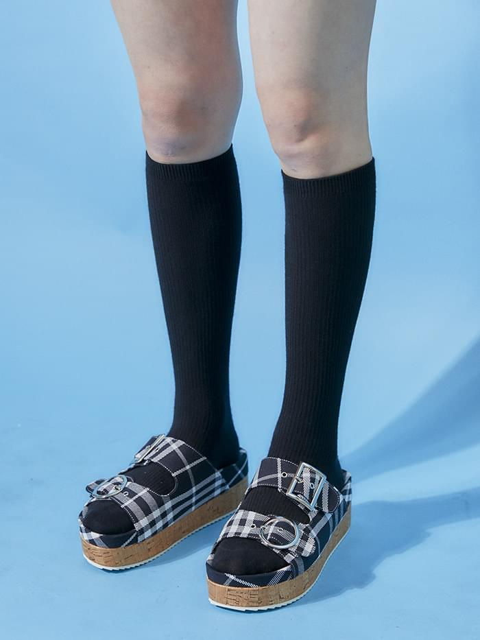 platform check slipper (3 color)