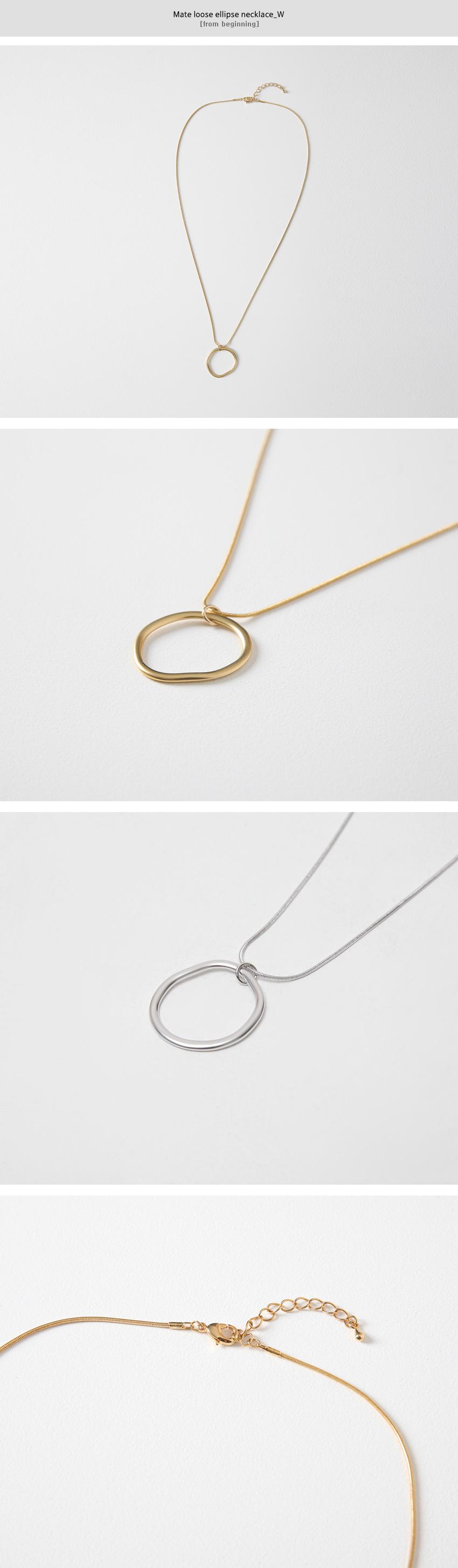 Mate loose ellipse necklace_W