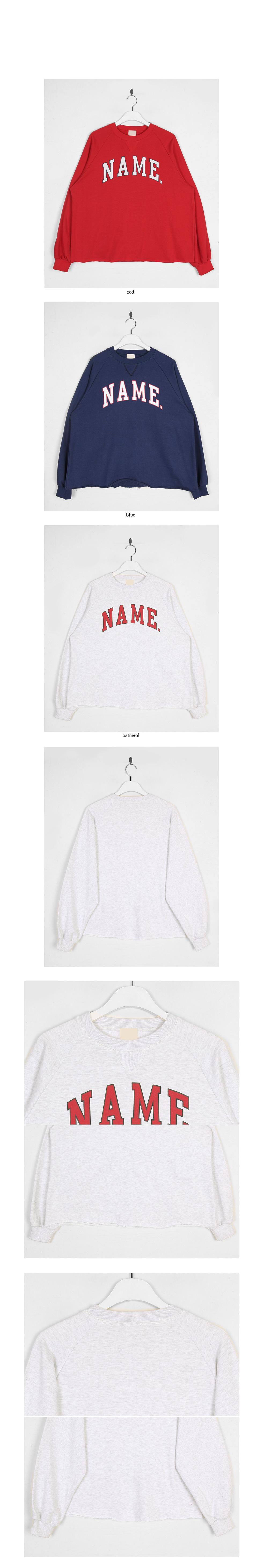 name raglan sweatshirt
