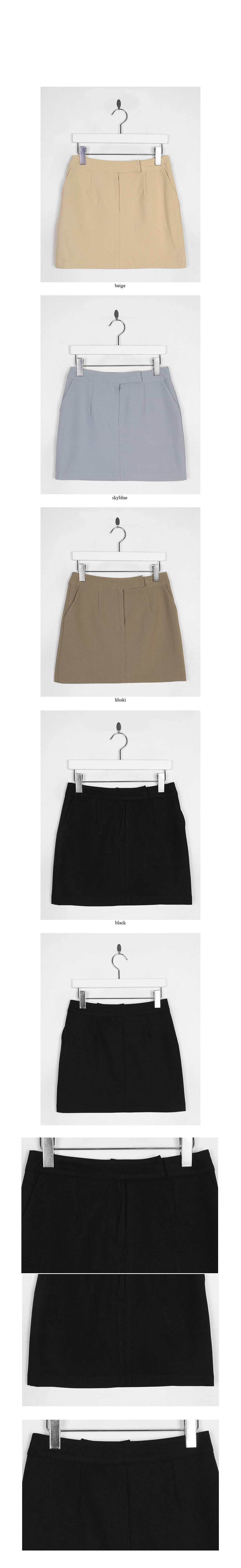 formal h-line mini skirt