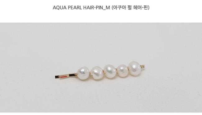 Aqua pearl hair-pin_M