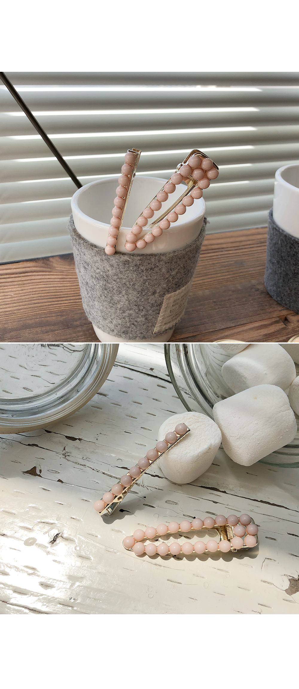 Strawberry milk hairpin SET