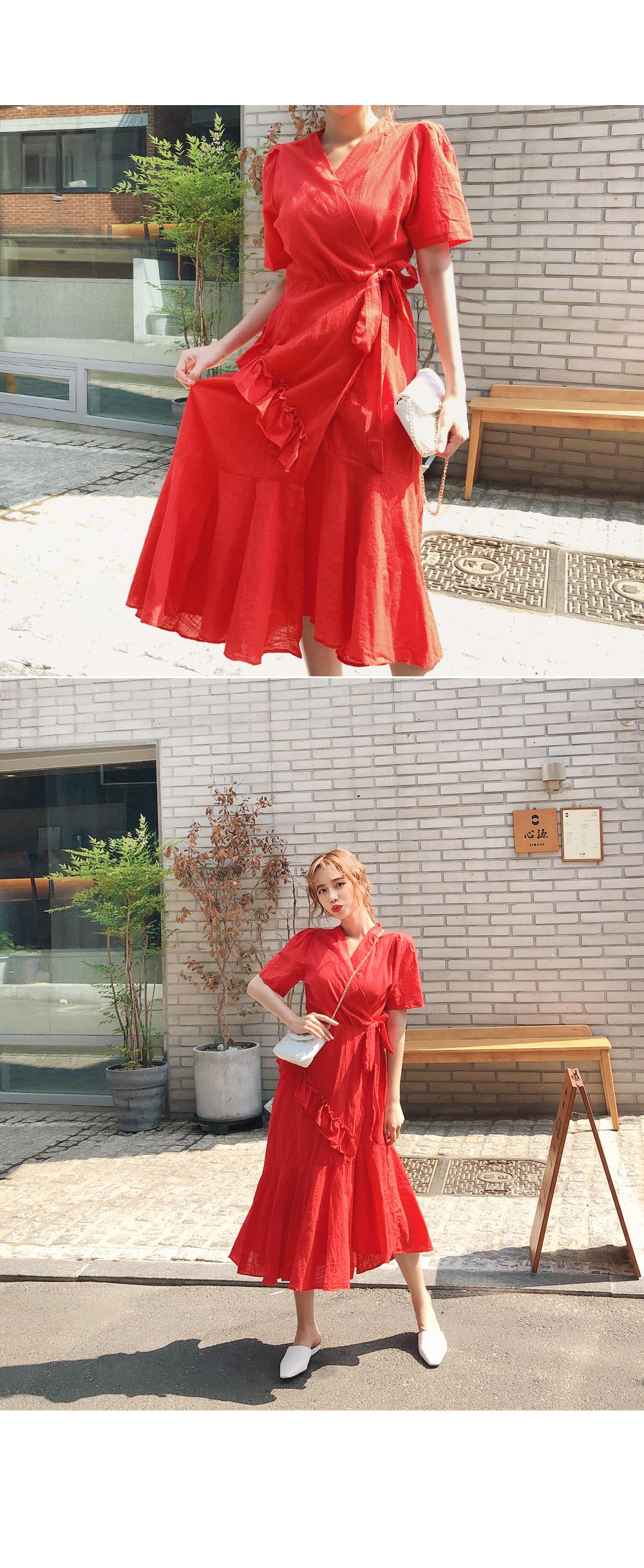 Fascinating ruffle dress