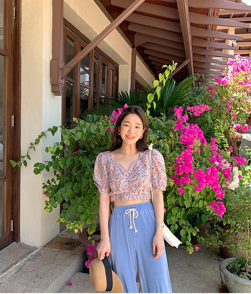 Garden crop flower blouse_B