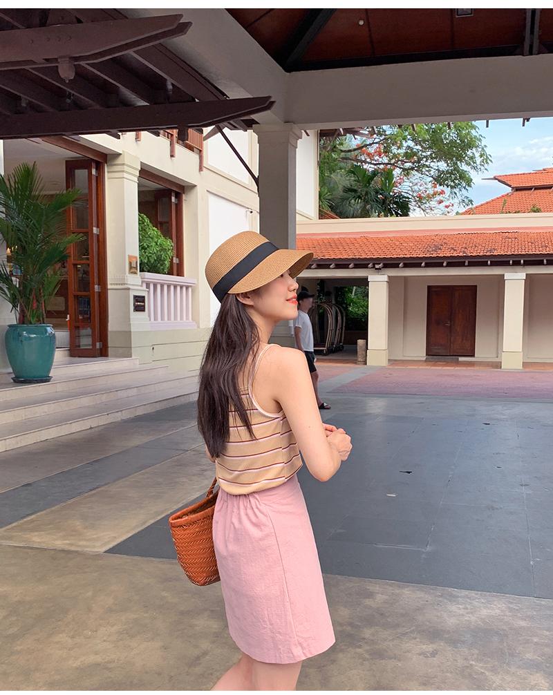 Young ribbon raffia hat_M