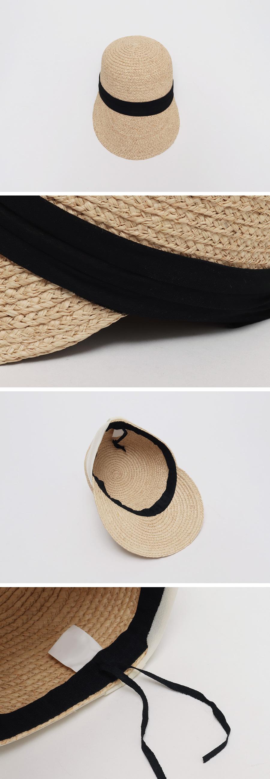 Silky band raffia hat_M