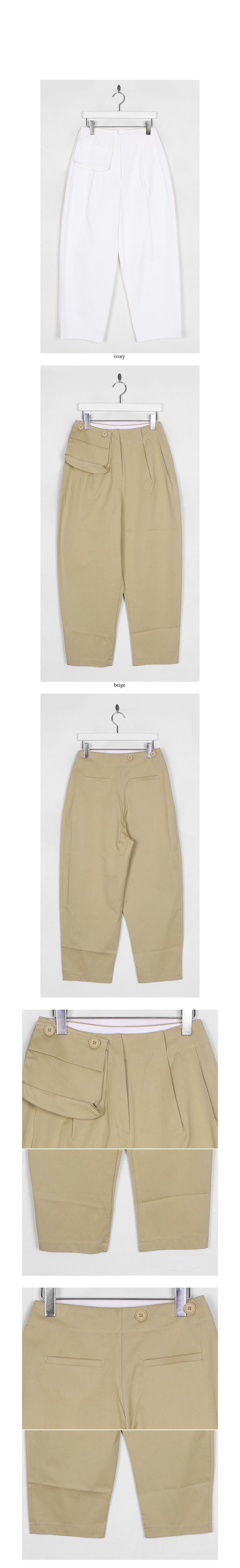 light cotton pocket pants