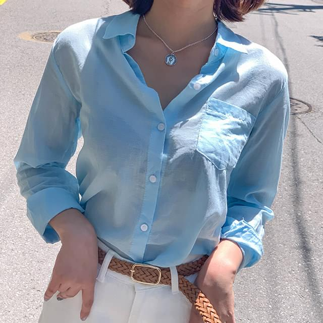 Linen hug pastel shirt