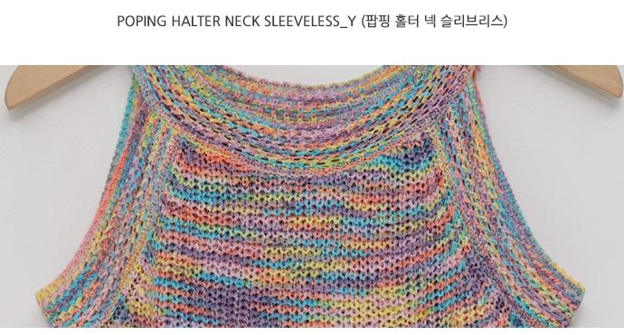 Poping halter neck sleeveless_Y