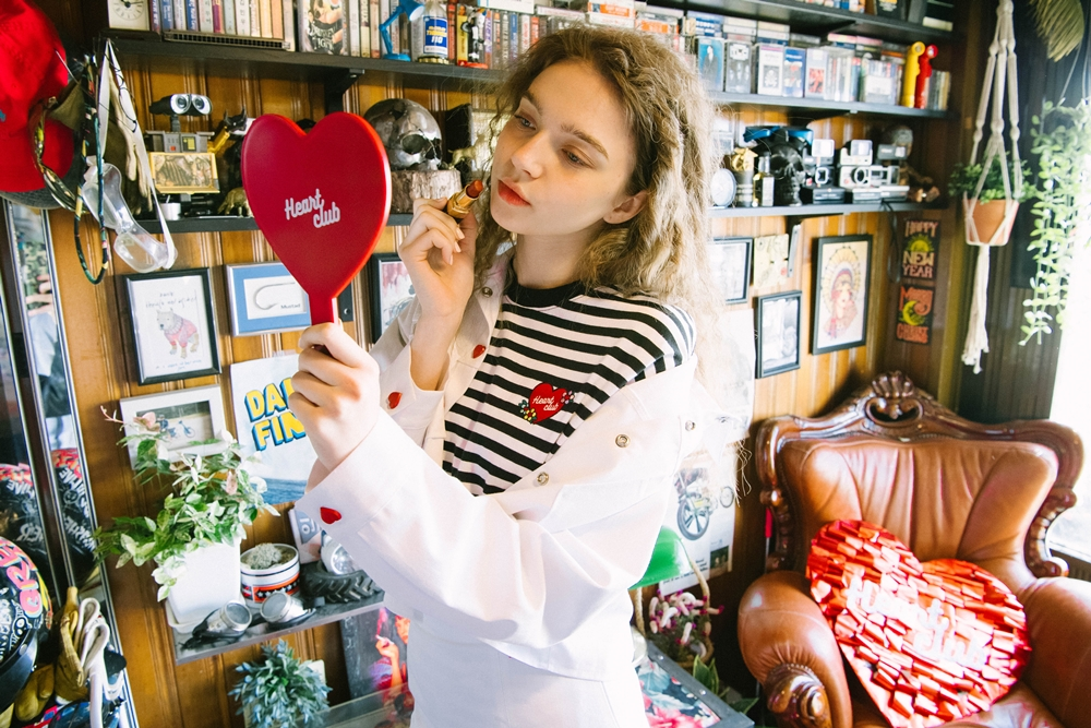 Heart Stripe Flower Top