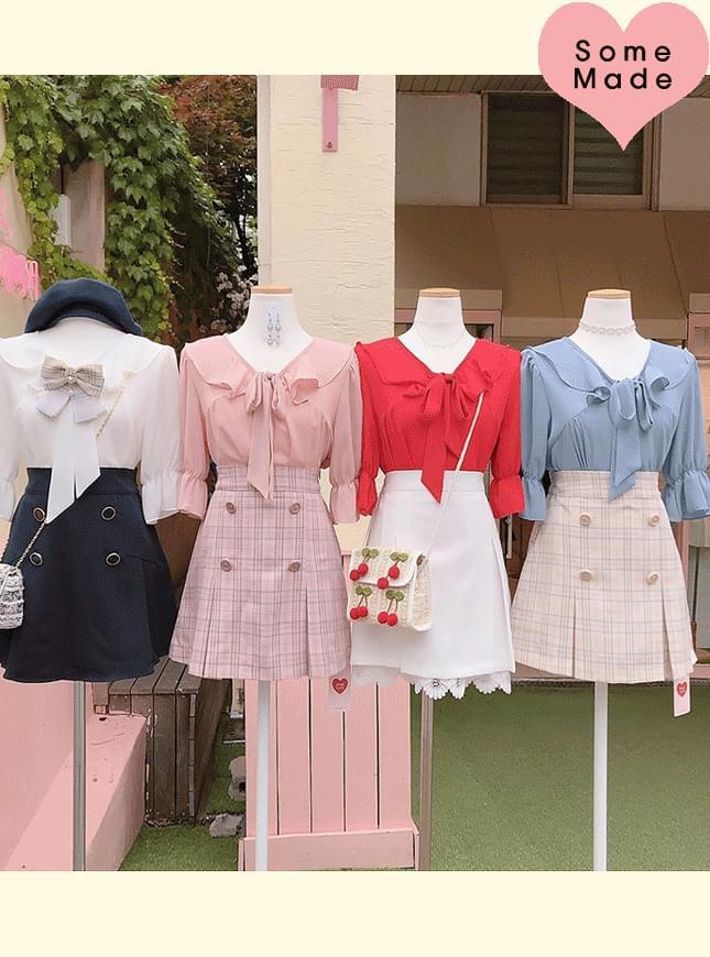 Self-made, order runaway ♥ Ruri Sera Ribbon blouse
