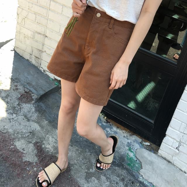 a-line cotton short pants