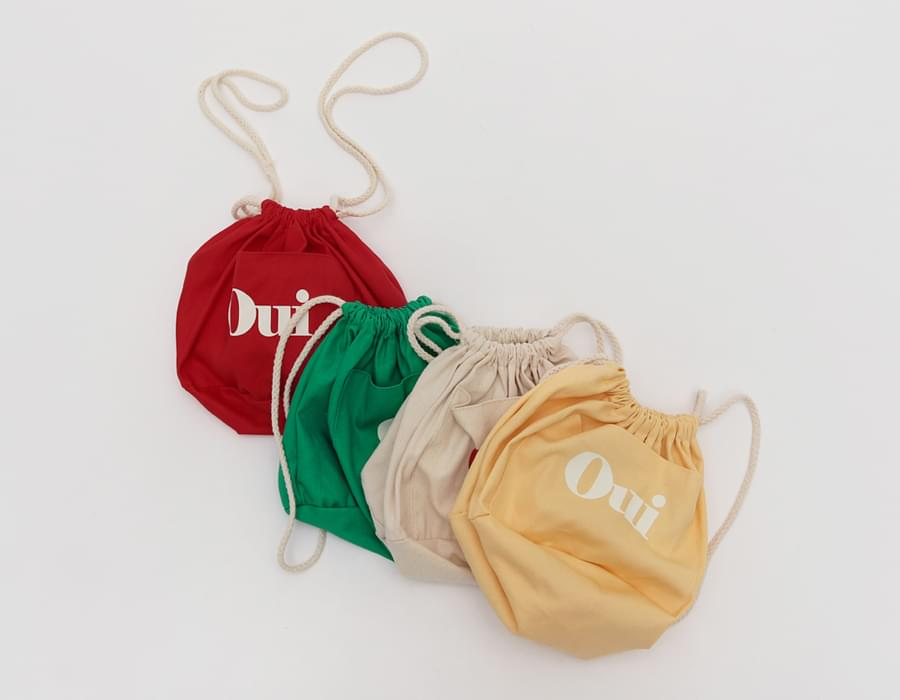 Oui cotton pouch bag_M
