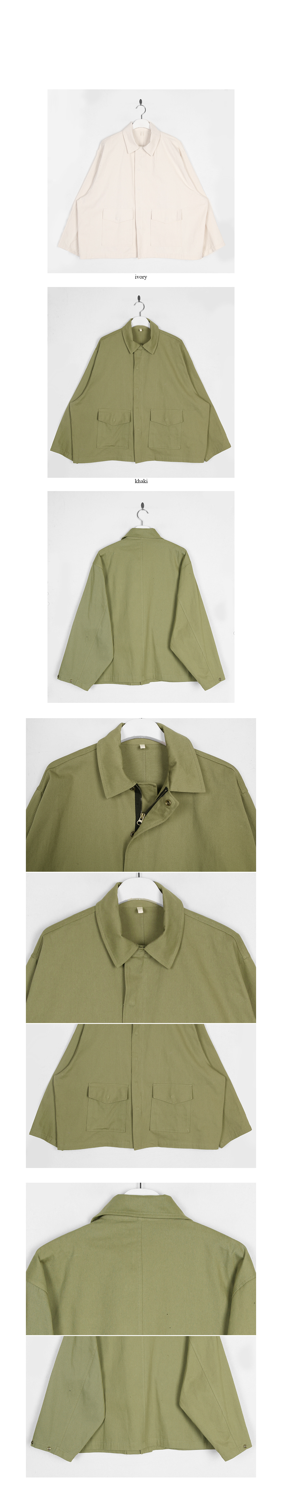 snap button cotton jumper