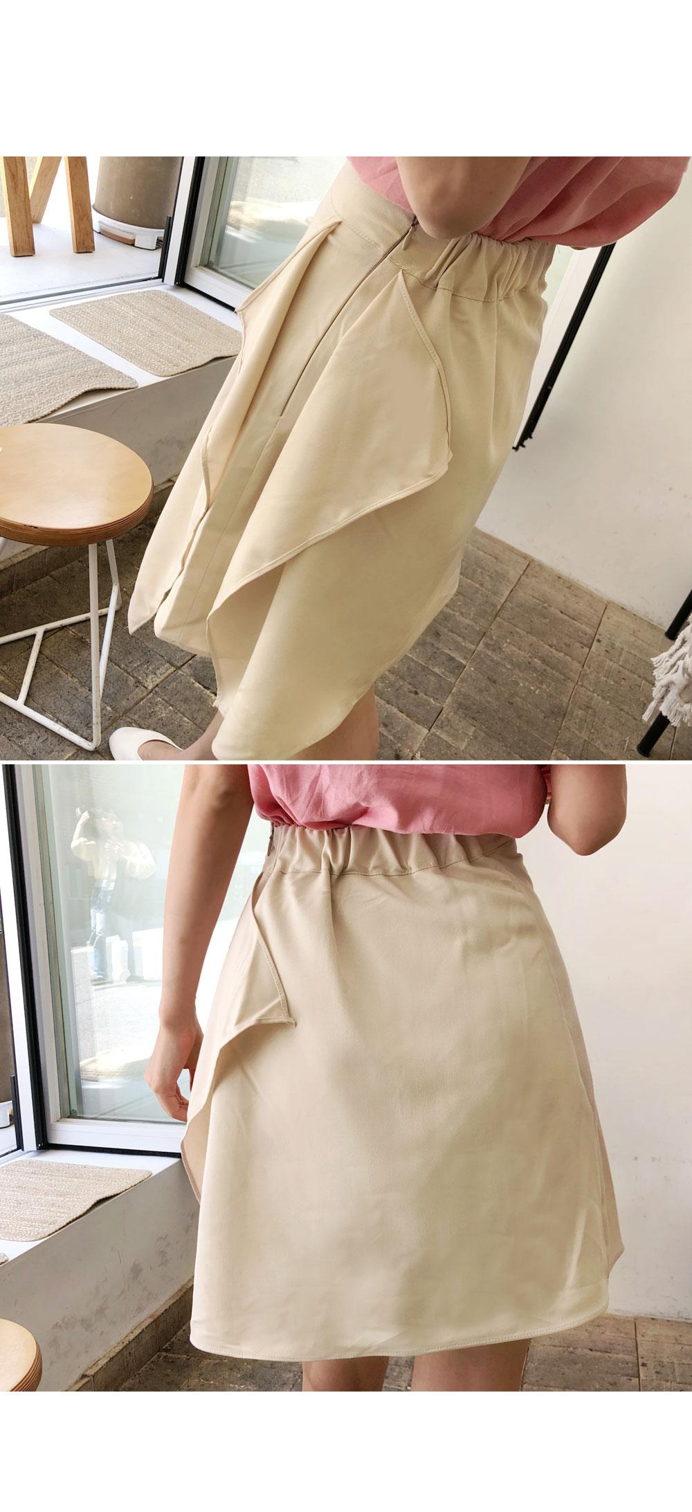 Flowing skirt ruffle skirt