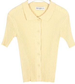 FRESH A golgi collar knit