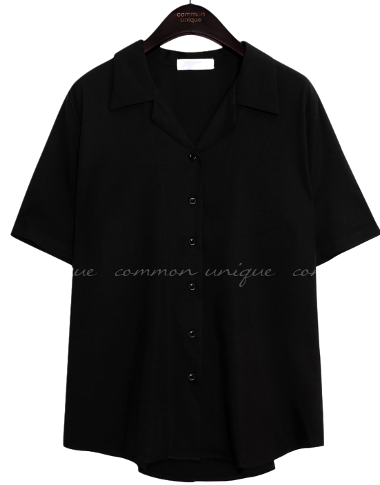 MORAN BUTTON COLLAR 1/2 BLOUSE