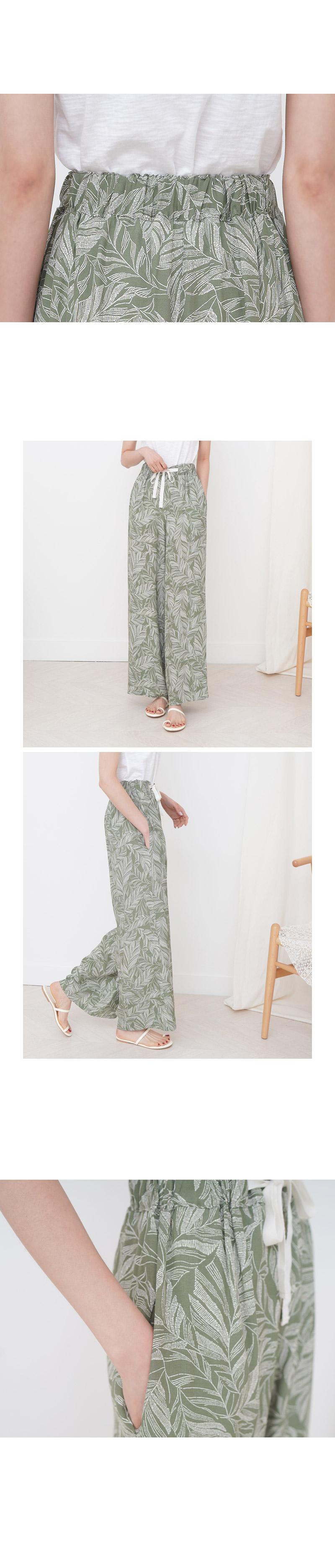 Summer Pattern Charming Banding Slacks